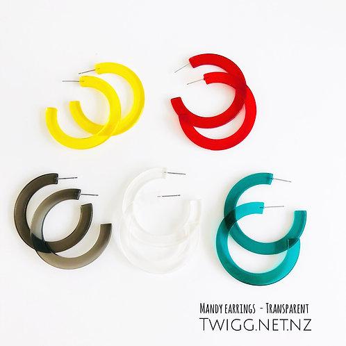 Resin bright earrings