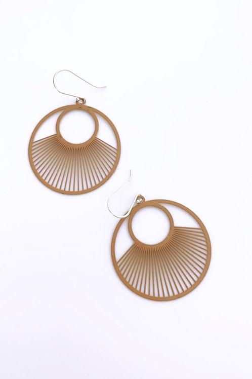 Viaduc metal earrings - clay