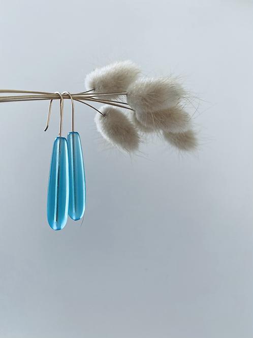 Tublar Sea Glass Earrings