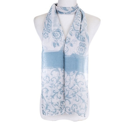 Pale blue cottage scarf