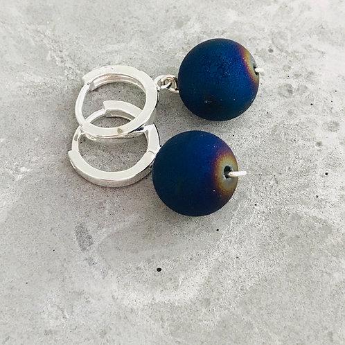 CLAMPED Druzy Quartz Agat earrings