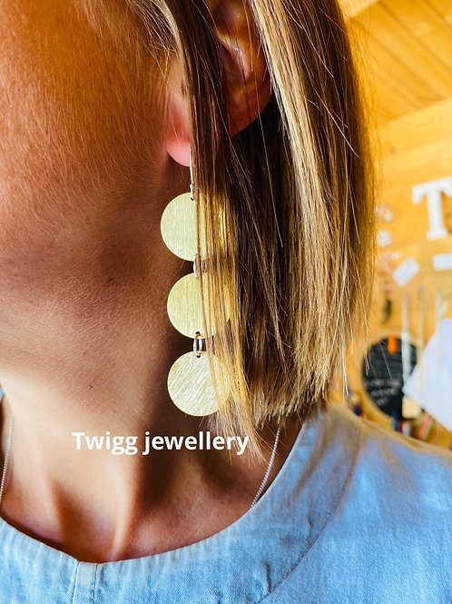 Mission complete sealed brass earrings