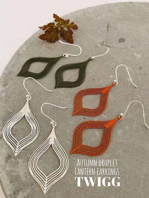 Autumn droplet latern earrings