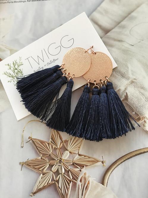 Rose gold ➕ navy Livy earrings