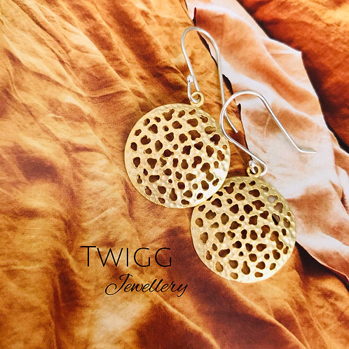 Hygge disc earrings