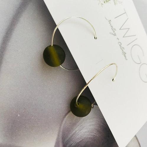 Everyday resin globe hoop earrings