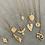 Thumbnail: Ottoman matte gold necklace