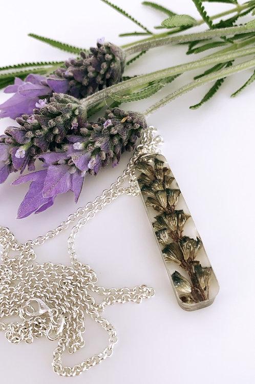 Lavender pendant necklace