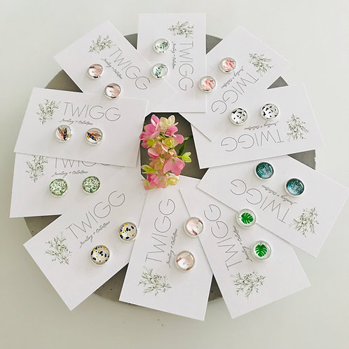 20 x retail mix glass dome earrings