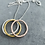 Thumbnail: TRIO sterling silver ring necklace
