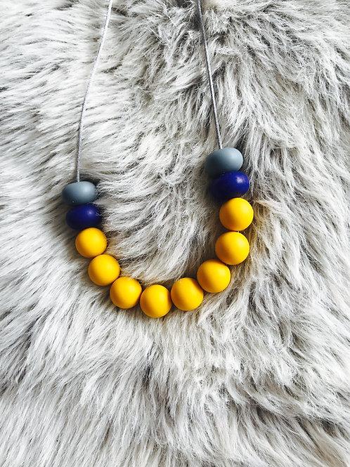 Mustard Silicone Necklace
