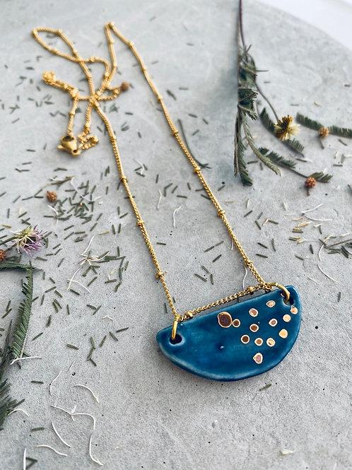 Oceania Porcelain  crescent necklace