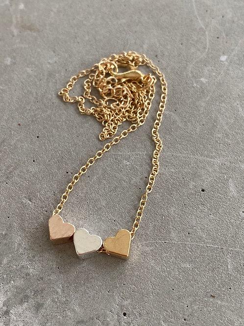 Trio heart necklace