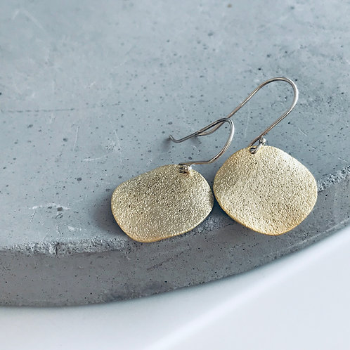 Pitted disc earrings