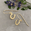 Thumbnail: Horse shoe drop earrings