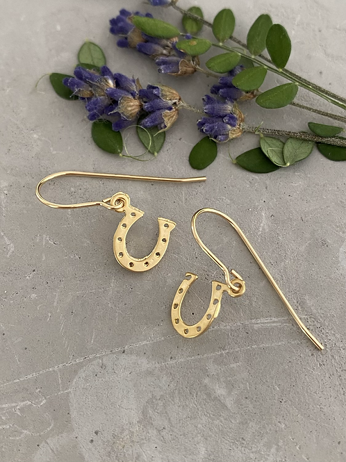 Horse shoe drop earrings