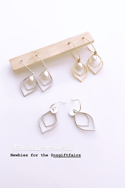 FLAPPER Deco pearl earrings