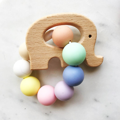 Baby Wood Silicone Teether  (24x)