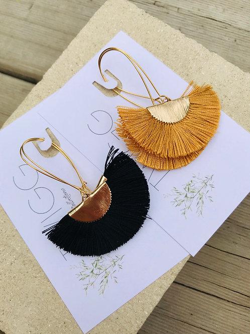 Isabella kidney Fan Earrings 0214