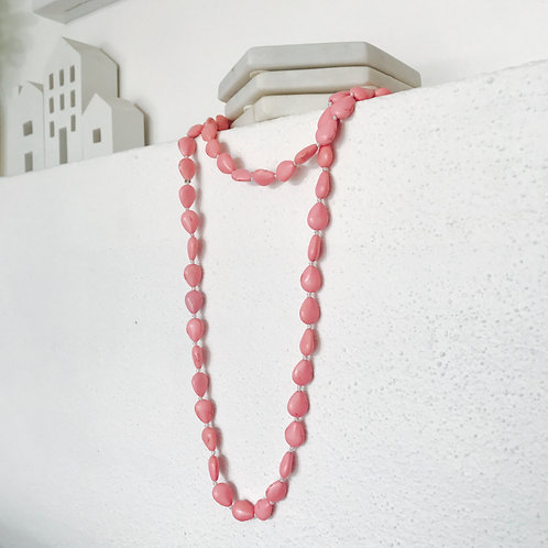 Stone Necklace - Pink