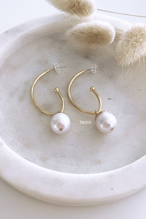 ORO pearl drop earrings