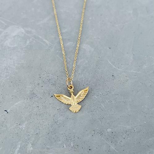 Ottoman matte gold necklace
