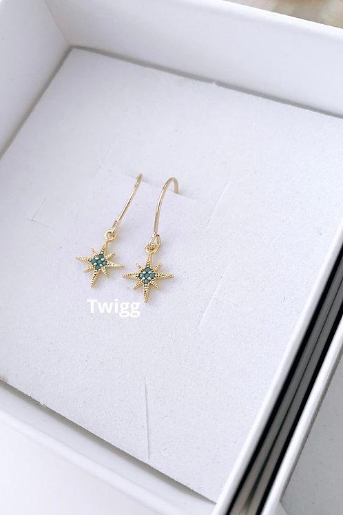 North Star earrings - hook