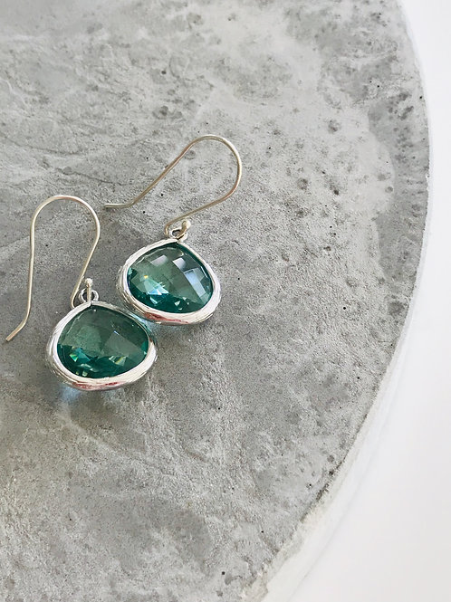 Audrey silver + turquoise