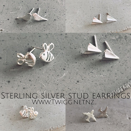 Retail mix x 25 sterling silver stud earrings