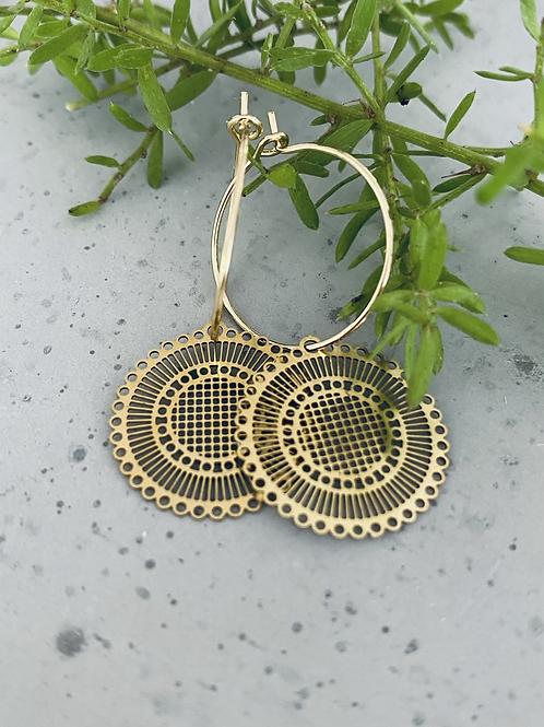 Theodore creole hoop earrings