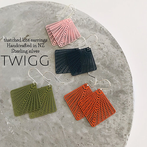 thatched kite earrings