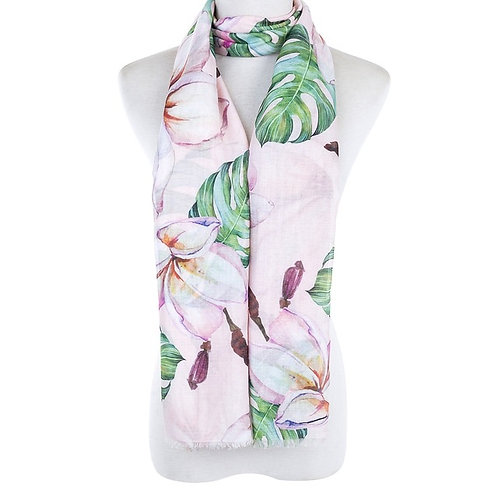 flora scarf - blush