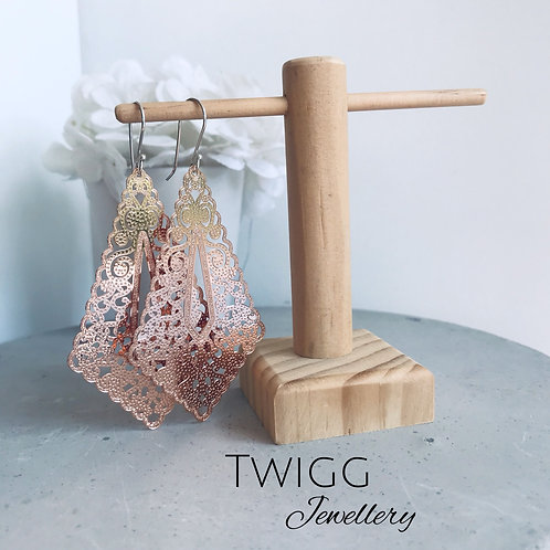 Filigree French lace earrings