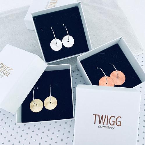 FLATS sterling silver cerole hoop earrings