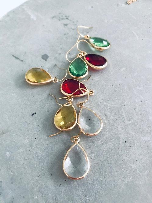 Ohello glass drop earrings