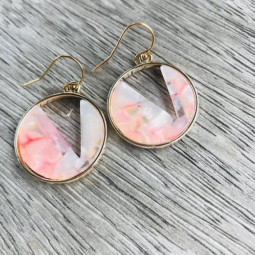Champagne orbit earrings