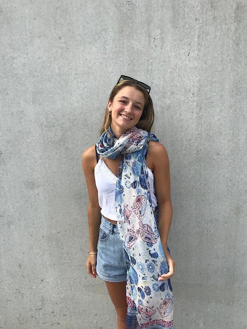 karsha blue scarf