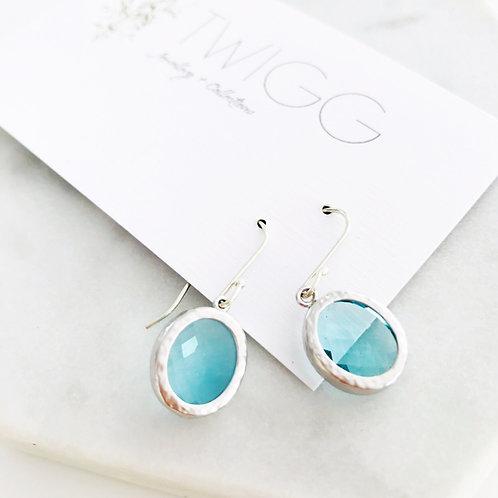 Audrey flats ice blue earrings