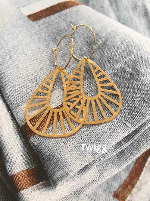 Cleopatra creole hoop earrings