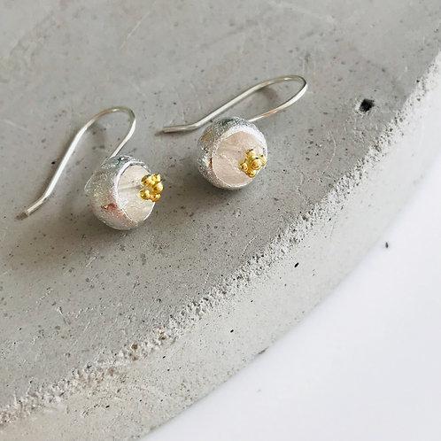 Bell flower 925 sterling silver earrings