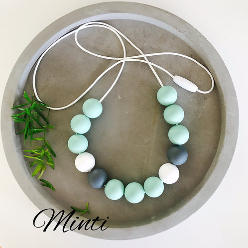 Minty silicone necklace