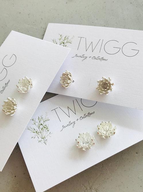 Wild flower sterling silver earrings