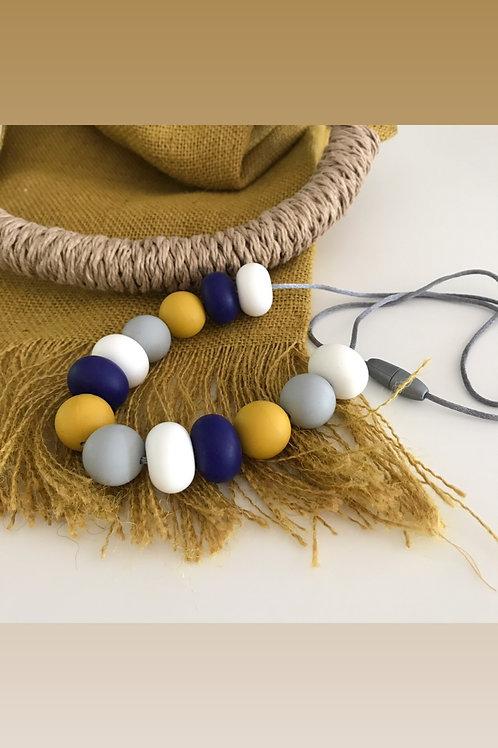 mustard multi silicone necklace