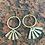 Thumbnail: Element brass drop Earrings