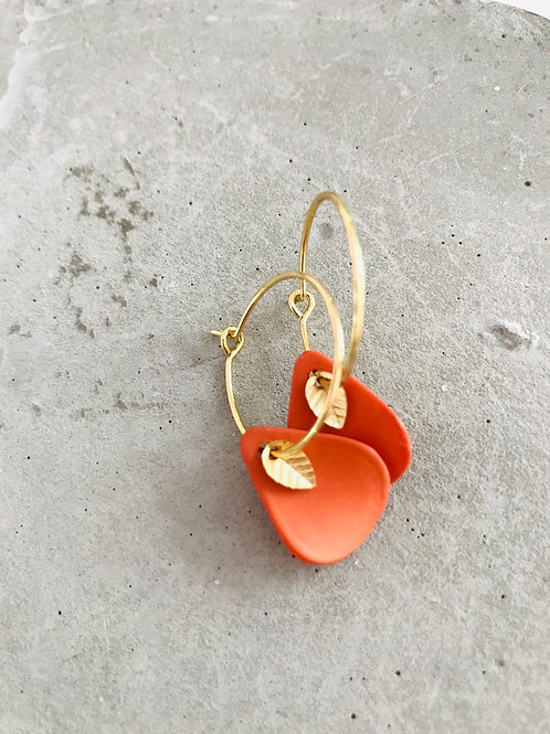 Coral petal earrings