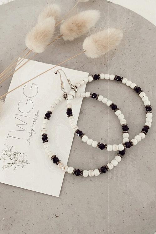 Medusa bead ring earrings
