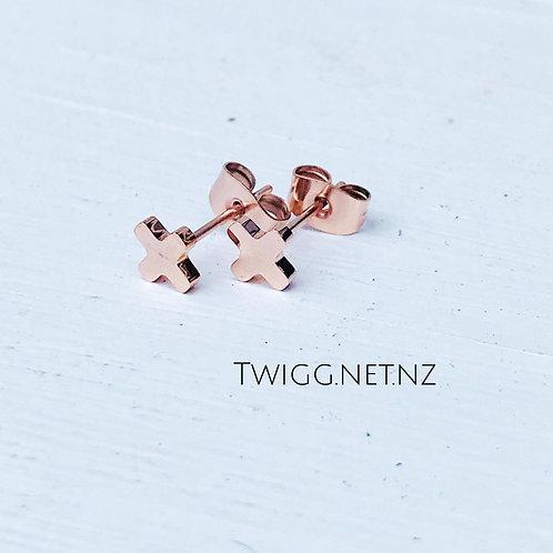 Rose Gold + Earrings