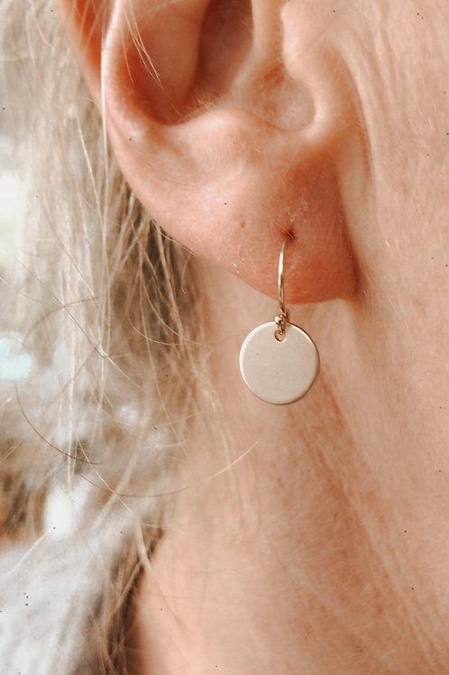 Poppet mini disc drop earrings
