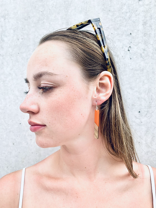 Scandi rod earrings