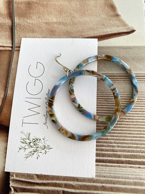 Infinity hoop earrings  SUMMER